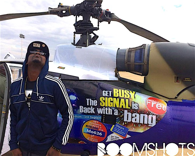 Busy Signal Helicopters In For Malawi Show With Custom Chopper