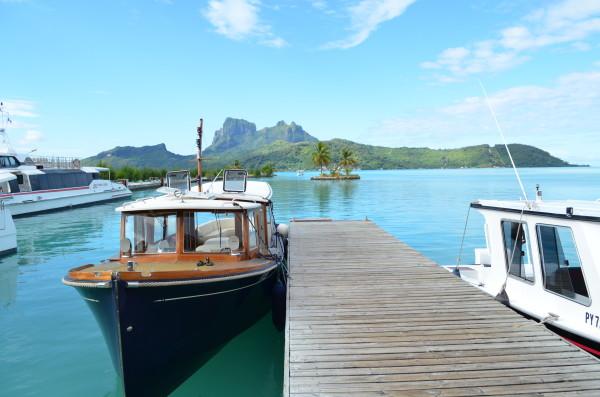 Boat at dock in Bora Bora
