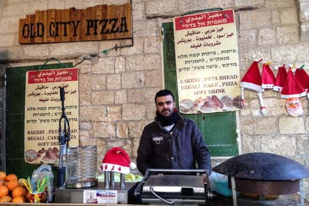 Food in Nazareth Old City, Israel