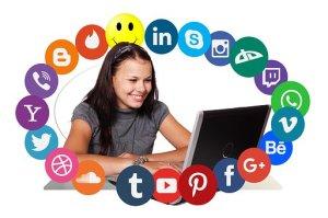 using the social media