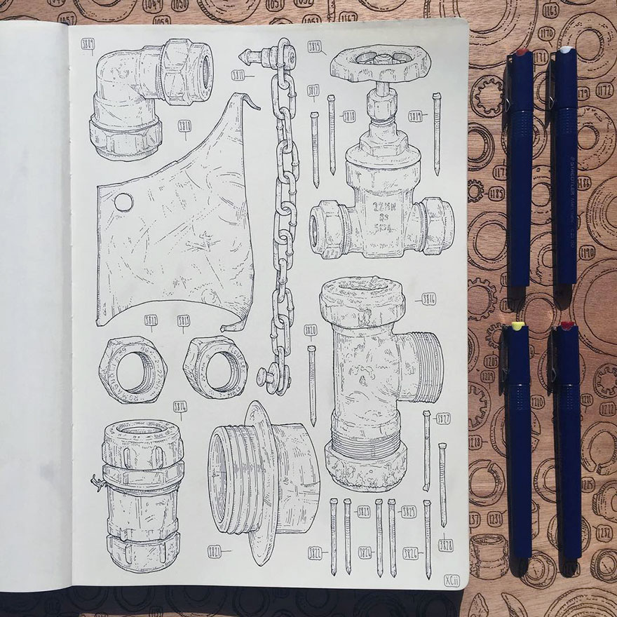 proyecto-dibujo-objetos-cobertizo-abuelo-fallecido-lee-john-phillips (5)