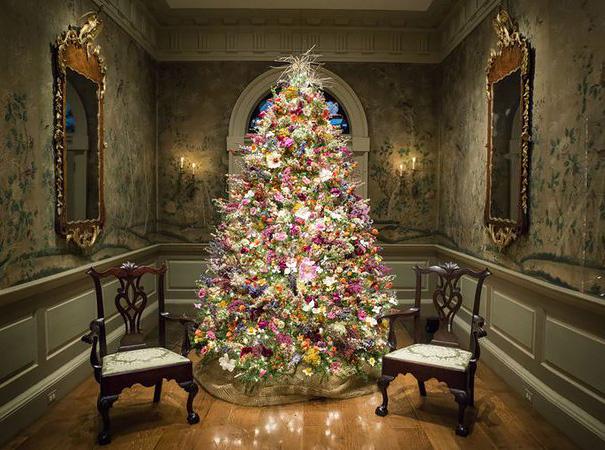 ideas-decoracion-arbol-navidad-flores (6)