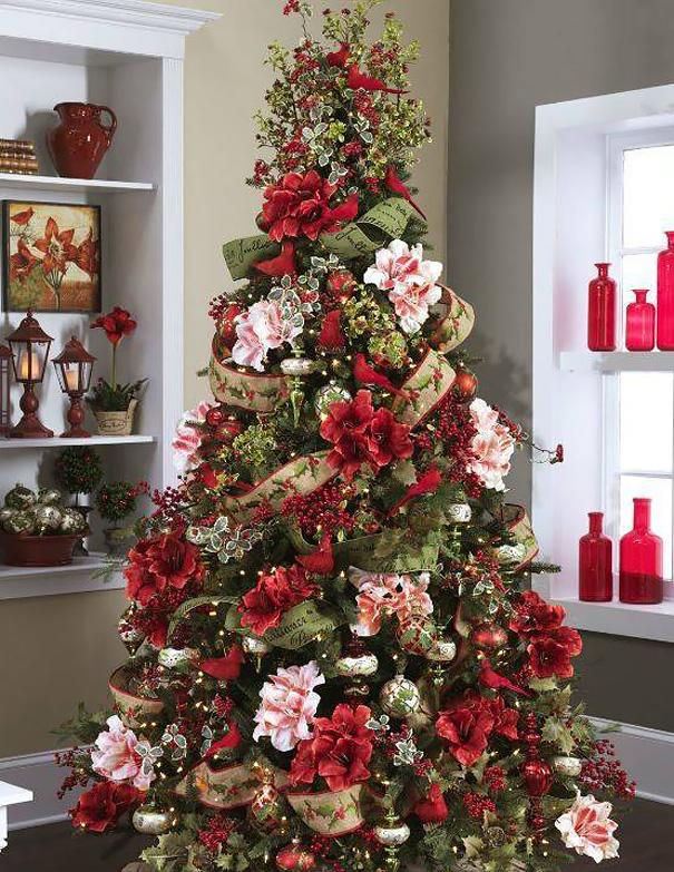 ideas-decoracion-arbol-navidad-flores (8)