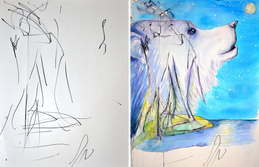 madre-hija-garabatos-pintura-eve-ruth-oosterman (7)