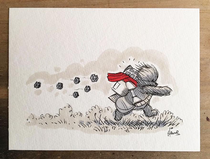 dibujos-mezcla-winnie-pooh-guerra-galaxias-james-hance (6)