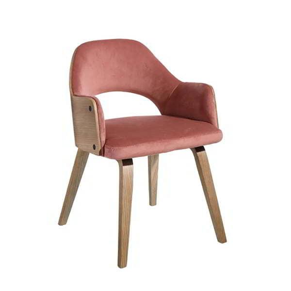 silla-rosa-madera-comoda