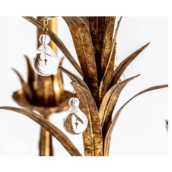lampara-metal-dorado-techo-diseño-clasico-cristal2