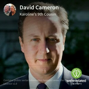 David Cameron - 9th cousins via Ludovic Grant (1652-1716)... this is my Blackwell / Johnston family line.