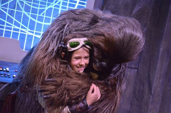 Chewie hugs