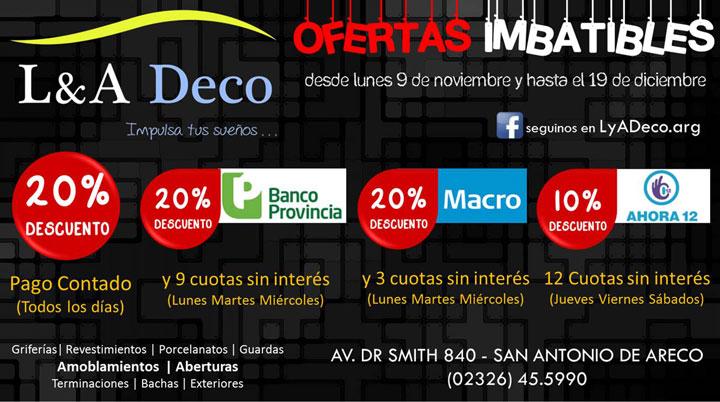 L&A Deco - Ofertas Imposible!!!