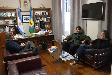 El Ministro Leonardo Sarquís junto a Francisco Durañona y Mariano Pinedo.