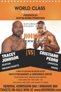 Boxing NH New Hampshire January tickets event