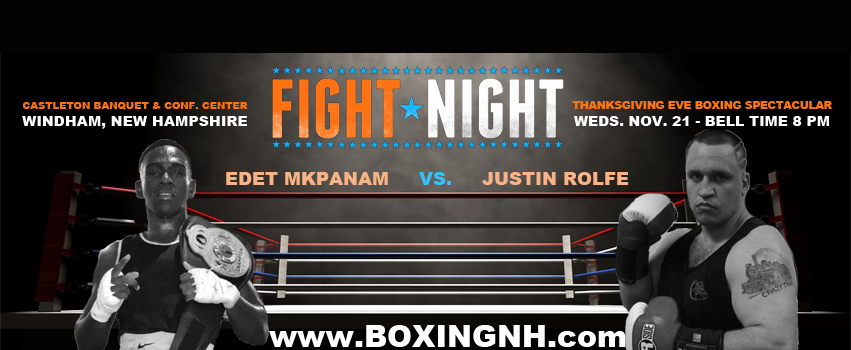 Boxing Thanksgiving Eve Windham NH Derry Quincy MA fights fighting Castleton November 21