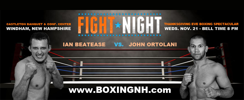 Boxing November 21 Windham NH Billerica Thanksgiving Eve tickets event Castleton