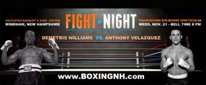 Boxing Windham NH Thanksgiving Eve November 21 Castleton tickets event Boston Dorchester