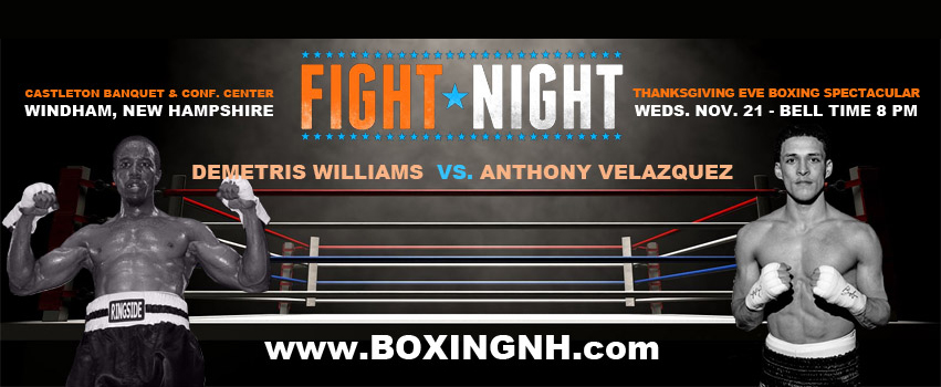Boxing Windham NH Thanksgiving Eve November 21 Castleton tickets event Boston Dorchester