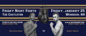 Boxing Windham NH January 25 Friday Night Fights tickets event Golden Gloves Lowell