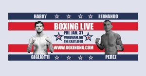 Boxing Windham NH January 31 Castleton tickets event