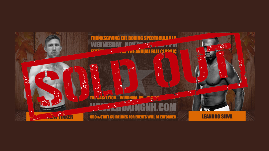 Boxing Thanksgiving Eve Windham NH Castleton tickets live stream Youtube