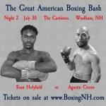 Evan Evander Holyfield boxing NH July 30 Windham Derry Somersworth tickets event
