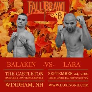 Boxing Windham NH Dedham MA Castleton September 24 tickets event