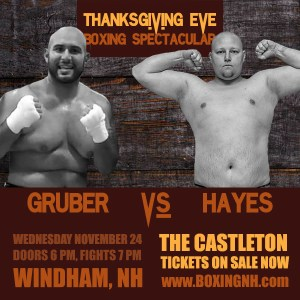 Thanksgiving Eve Boxing Spectacular Windham NH tickets event November 24