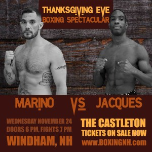 Thanksgiving Eve Boxing Spectacular November 24 Windham NH tickets event Castleton