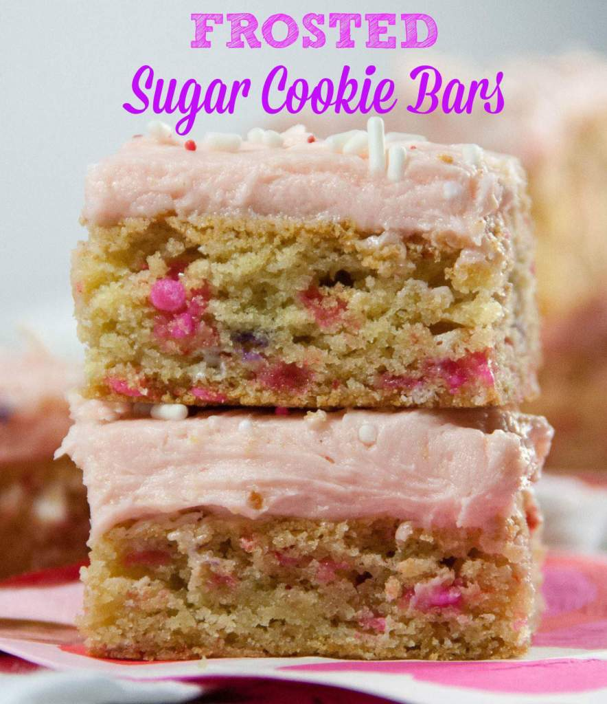 Frosted Sugar Cooke Bars perfect for any occasion!