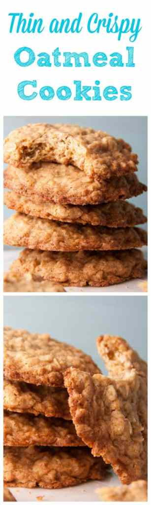 Thin and Crispy Oatmeal Cookies - Boston Girl Bakes