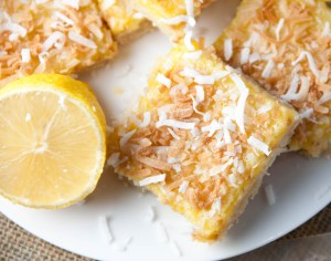 toasted coconut lemon bars