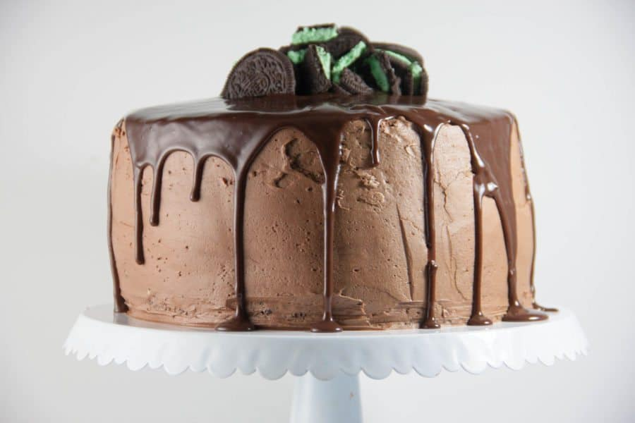 Mint Oreo Cheeesecake Chocolate Cake