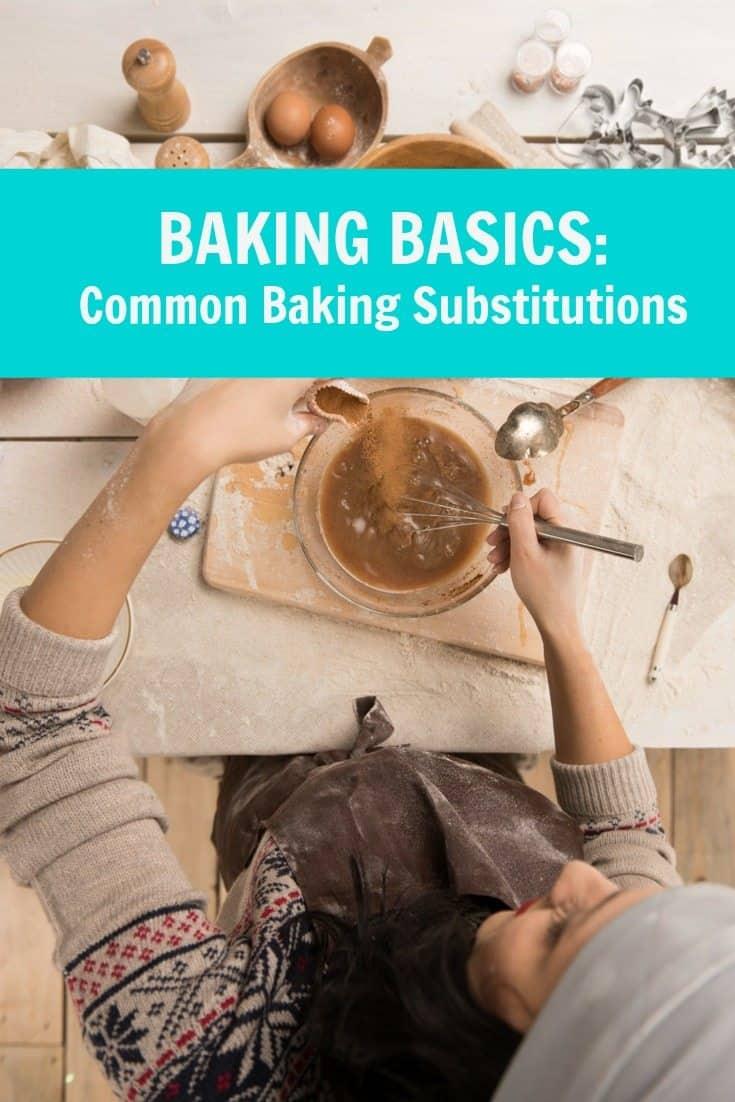 baking basics- substitutions