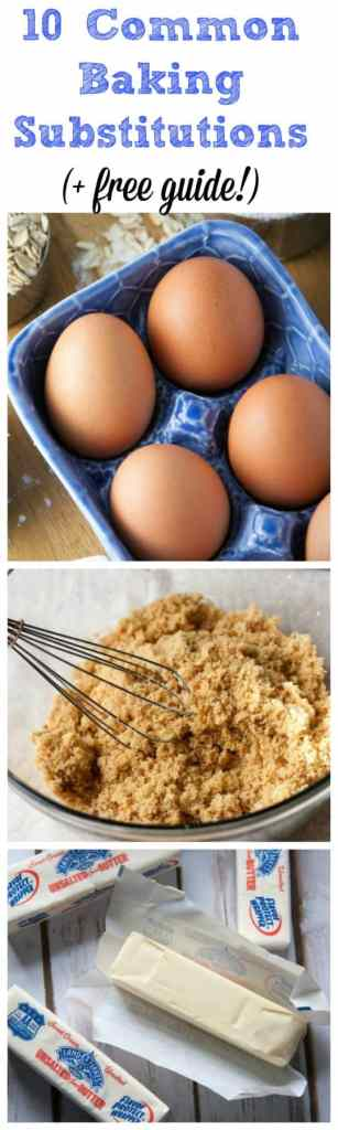 top 10 common baking substitutions