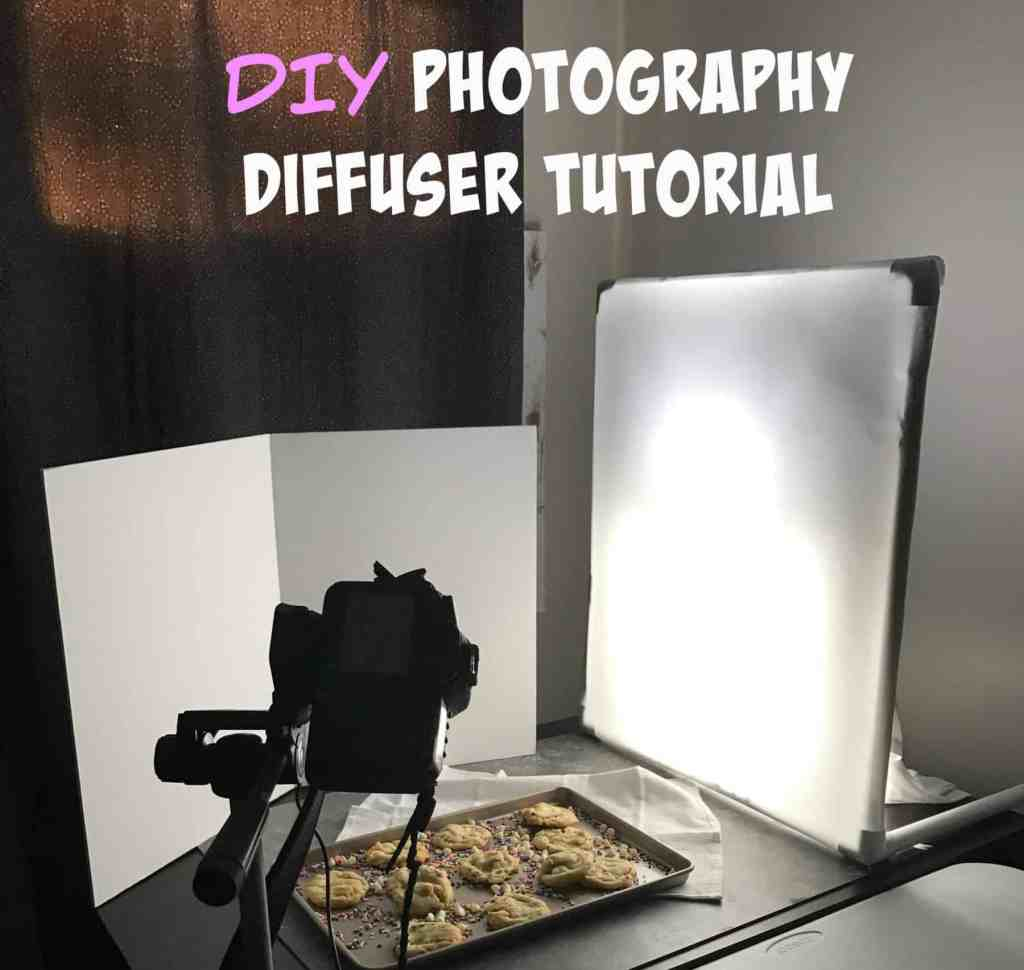 Make Your Own Diffuser for your food photography! This is a stand alone diffuser, costs less than $20- and you can get my artifical lighting set up guide for free too!