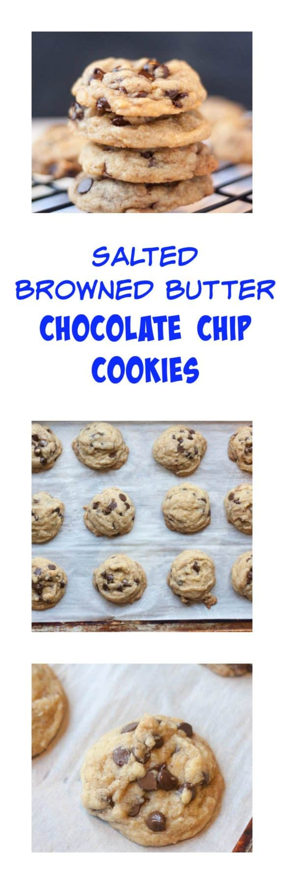 Salted Browned Butter Chocolate Chip Cookies - Boston Girl Bakes