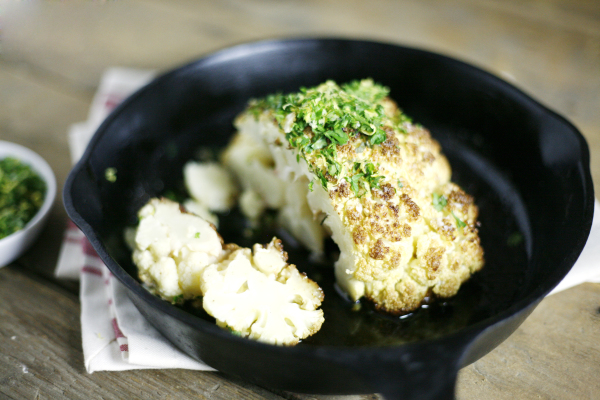 Brown Butter Roasted Cauliflower with Gremolata | Bourbon ...