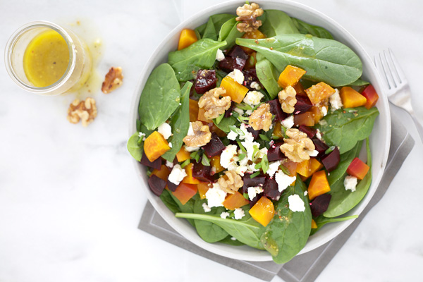Beet Salad with Feta and Spiced Walnuts | Bourbon and Honey