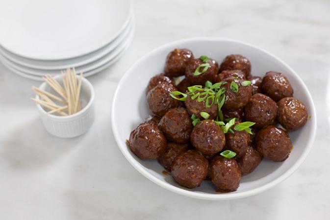 Bourbon and Honey Glazed Meatballs