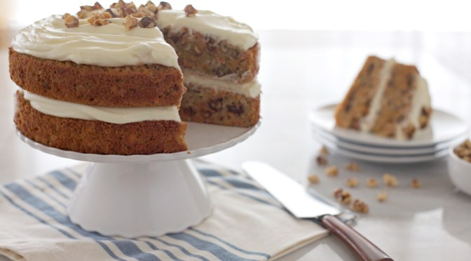 Carrot Cake with Bourbon Cream Cheese Frosting