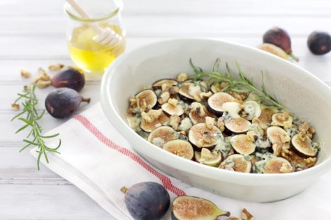 Roasted Figs with Blue Cheese and Honey | BourbonAndHoney.com