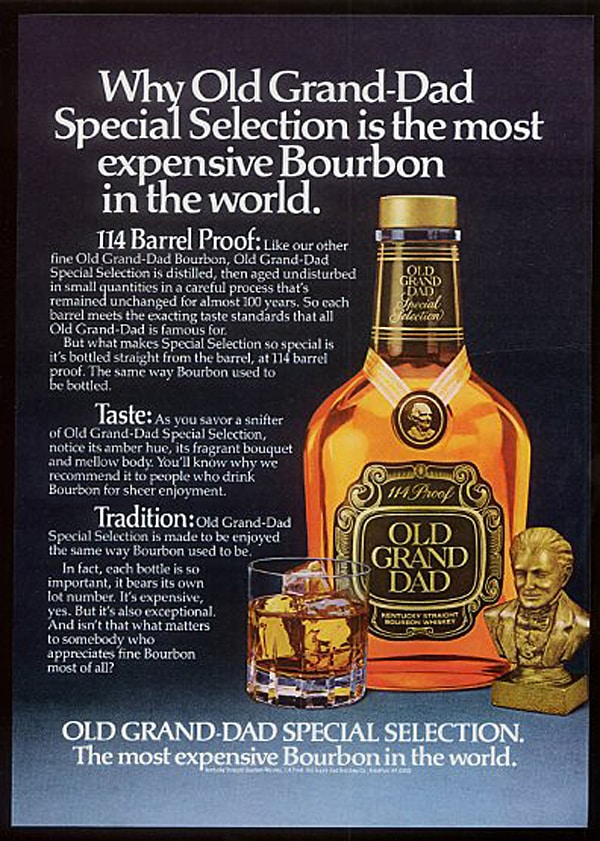 Old Grand Dad Expensive Ad