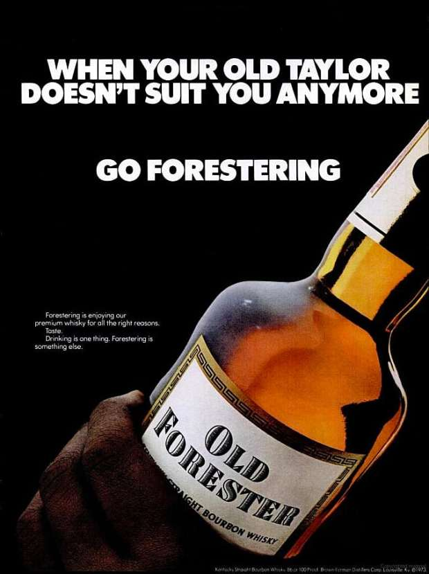 Old Forester Bourbon Ad Circa1973