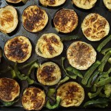 Baked Eggplants and Green Pepper