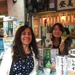Green Tea Ice Cream at Tsukiji