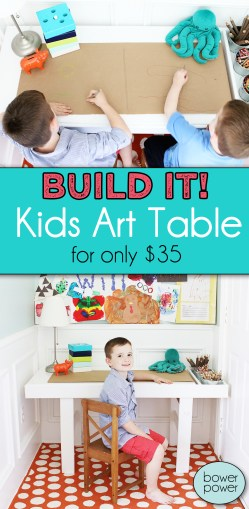 Small Of Kids Art Table