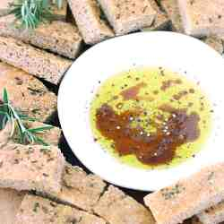 Small Crop Of Olive Oil Bread Dip