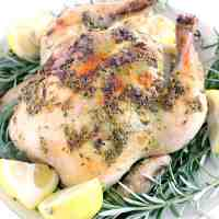 Lemon, Garlic, and Rosemary Whole Roast Chicken