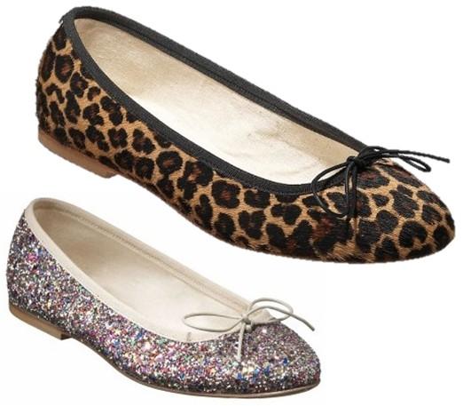anniel léopard paillettes glitters ballerinas leopard