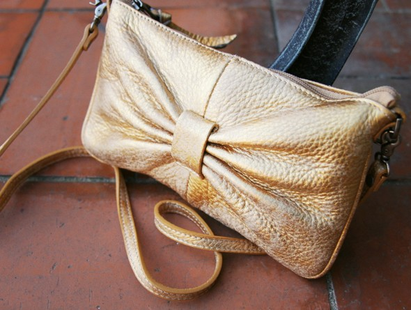 sabrina bag sac noeud bow gold doré_effected