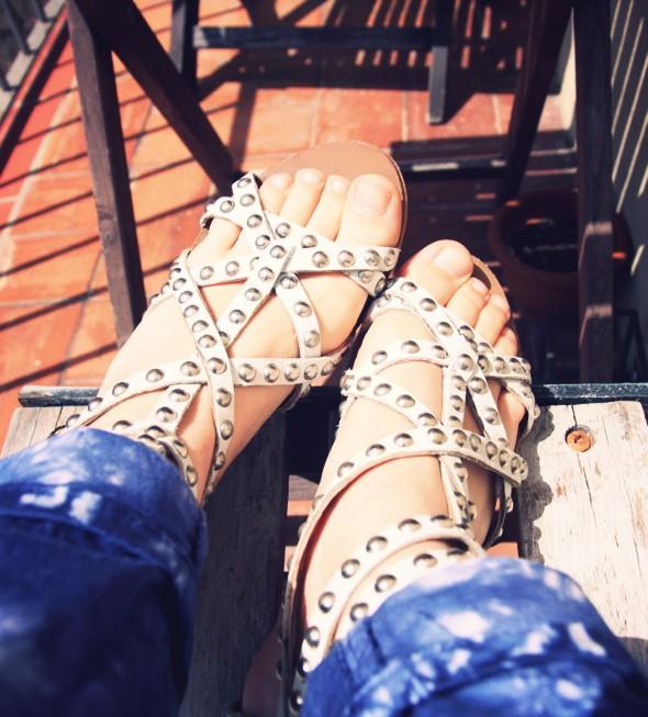 cimarron pants tie dye die clara pantalon sandales zara h&m blouse blusa_effected